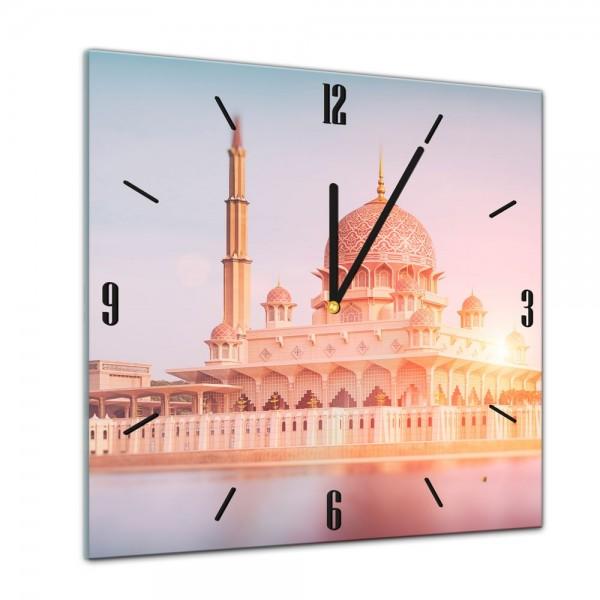 Glasuhr - Städte, Seen & Landschaften - Putra-Moschee - Malaysia - 40x40cm