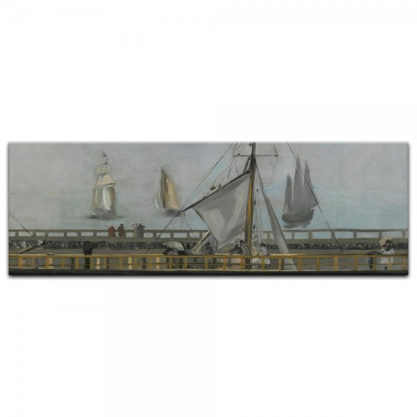 Leinwandbild - Édouard Manet - Anlegestelle in Boulogne
