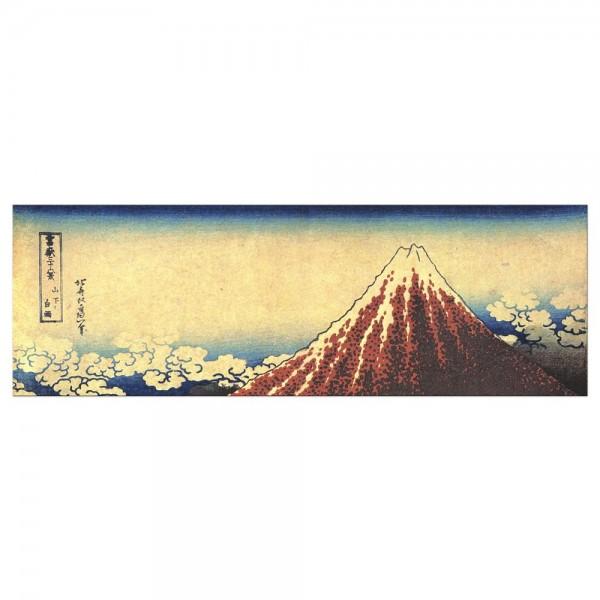 Leinwandbild - Katsushika Hokusai - Gewitter unterhalb des Gipfels