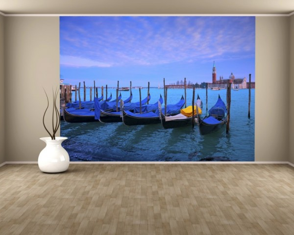 Fototapete Venedig Gondeln
