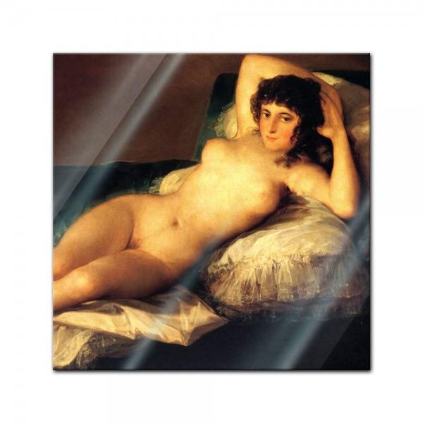 Glasbild Francisco de Goya - Alte Meister - Die nackte Maja