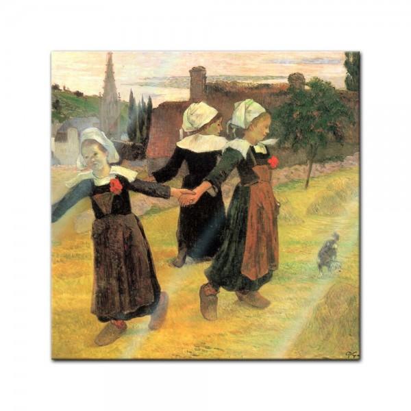 Glasbild Paul Gauguin - Alte Meister - Der Reigen der kleinen Bretonninen