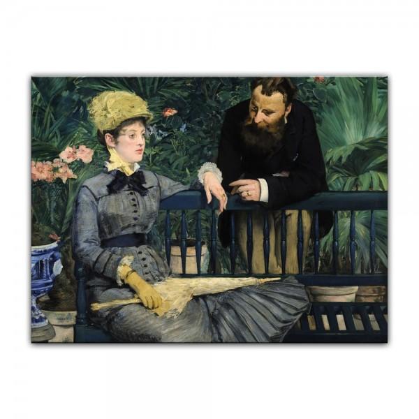 Leinwandbild - Édouard Manet - Im Wintergarten