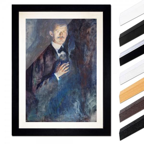 Edvard Munch - Selbstporträt mit Zigarette