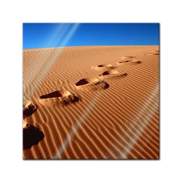 Glasbild - Wüste