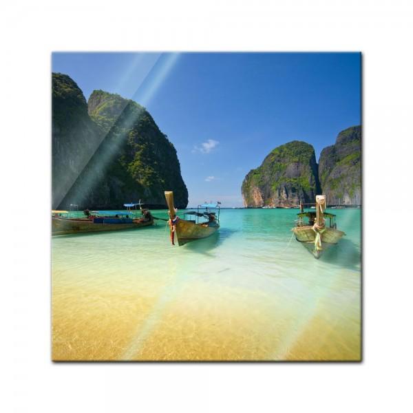 Glasbild - Tropical Beach - Tropischer Strand