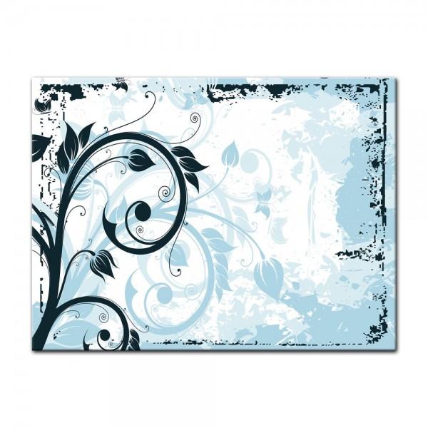 Leinwandbild - Blumen Grunge III
