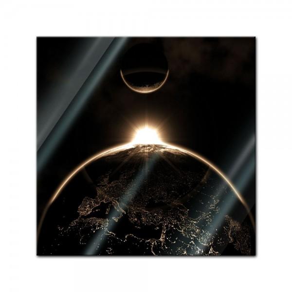Glasbild - Sonnenaufgang