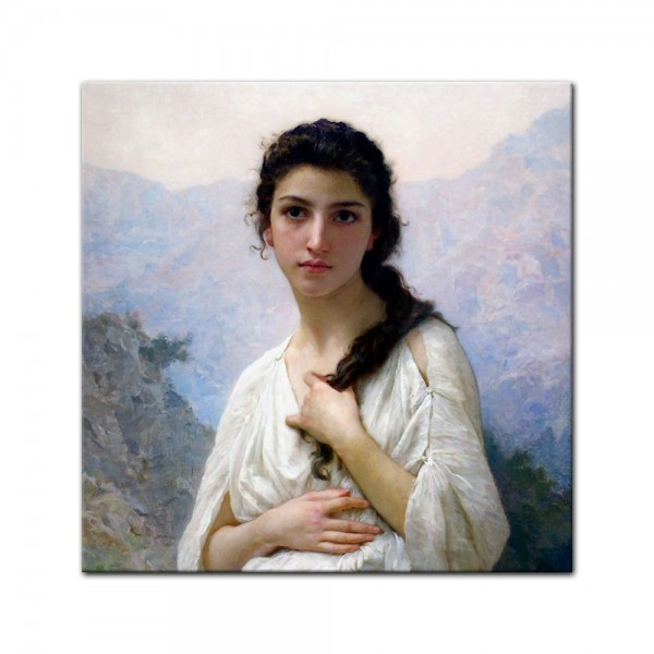 Leinwandbild - William-Adolphe Bouguereau - Meditation