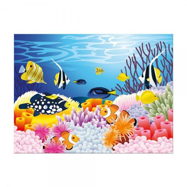 Leinwandbild - Kinderbild - Leben im Meer - Cartoon