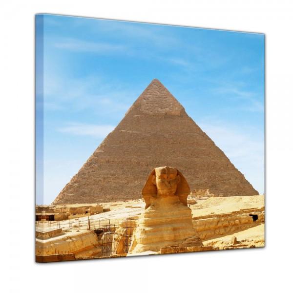 SALE Leinwandbild - Ägypten - Sphinx - 40x40 cm