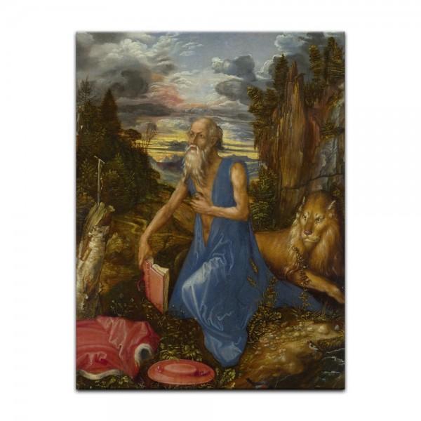 Leinwandbild - Albrecht Dürer - Büßender Hieronymus