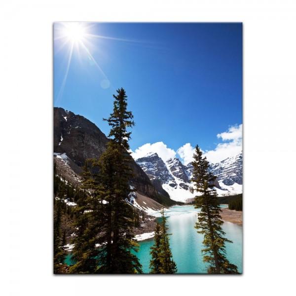 Leinwandbild - Bergsee in Alberta - Kanada
