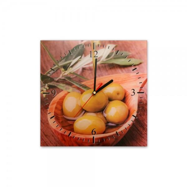 Glasuhr - Schale mit Oliven - 035