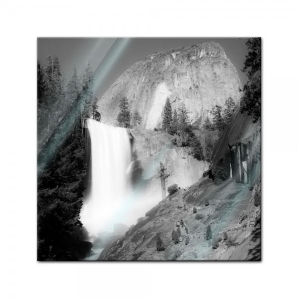 Glasbild - Wasserfall III