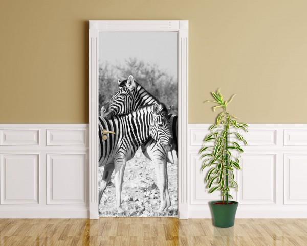 Türaufkleber - Zebrapaar