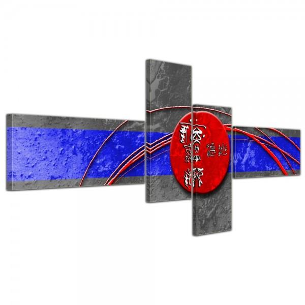 Abstrakte Kunst China - 140x65cm 4 teilig
