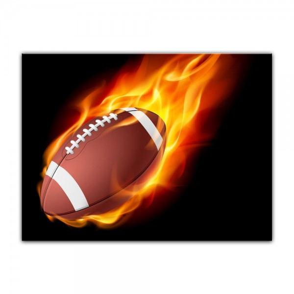 Leinwandbild - Football Feuer