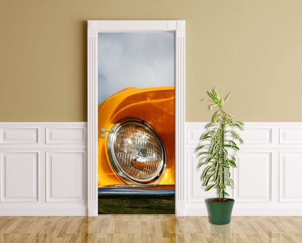 Türaufkleber - Ford Mustang - orange