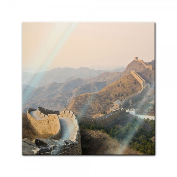 Glasbild - Chinesische Mauer