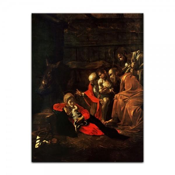 Leinwandbild - Caravaggio - Anbetung der Hirten