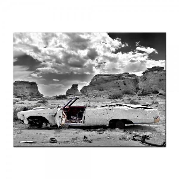 Leinwandbild - Cadillac - weiß