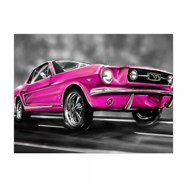 Leinwandbild - Mustang Graphic - pink