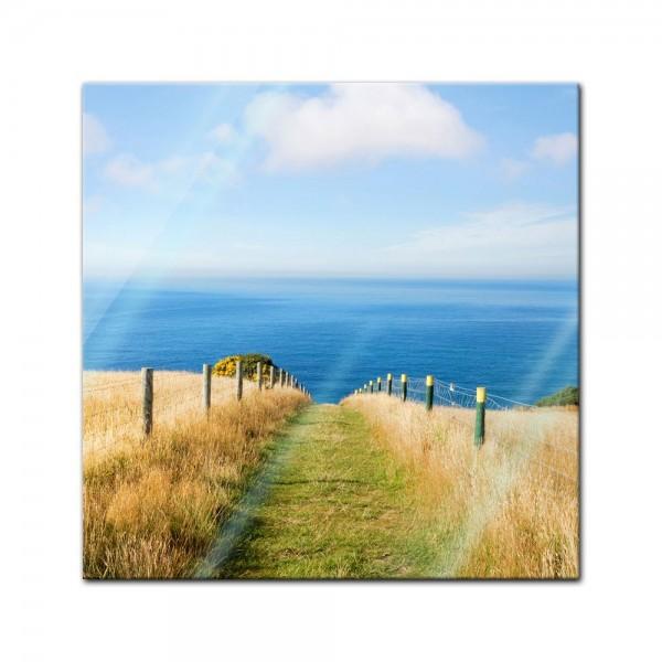 Glasbild - Schöner Weg zum Strand II