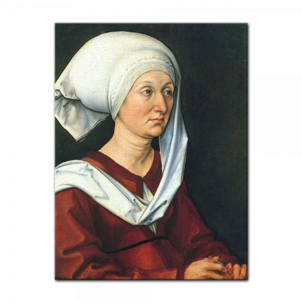 Leinwandbild - Albrecht Dürer - Portrait - Barbara Dürer