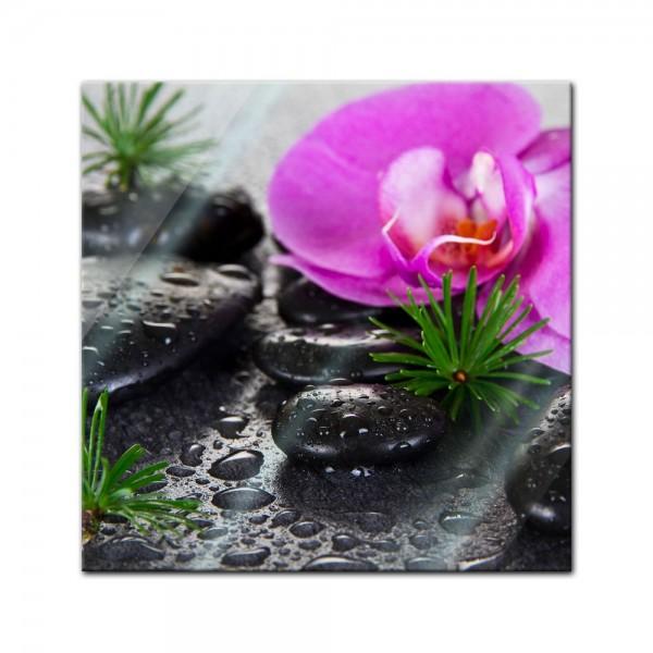 Glasbild - Zen Steine XI