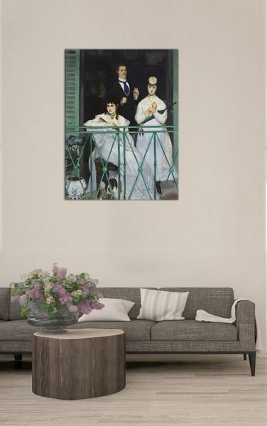 Leinwandbild - Édouard Manet - Der Balkon