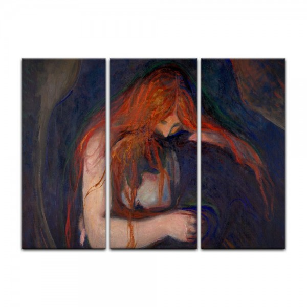 Leinwandbild - Edvard Munch - Vampire - Vampir