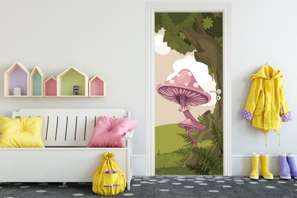 Türaufkleber - Kinderbild Märchenwald II