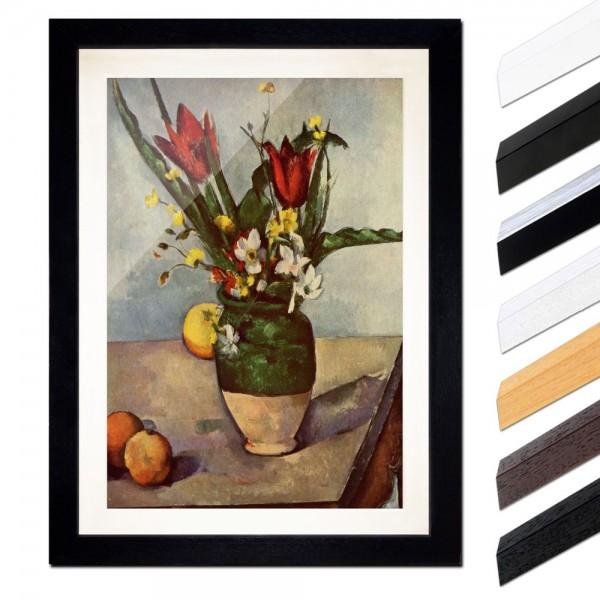 Paul Cézanne - Stillleben mit Tulpen und Äpfel