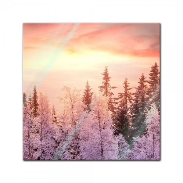 Glasbild - Winterwald