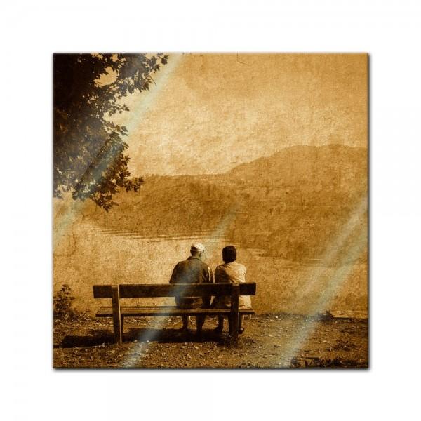 Glasbild - Vintage - Liebespaar