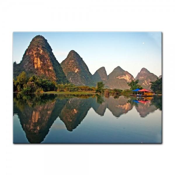Leinwandbild - Beauty of Yangshuo Karst in Guilin, China