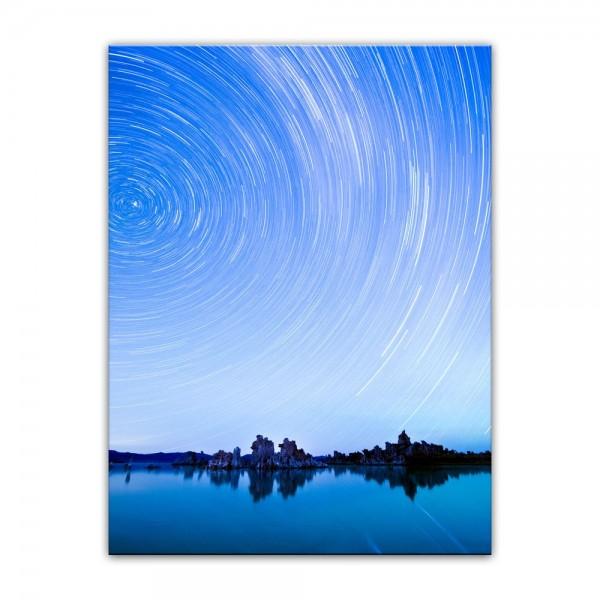 Leinwandbild - Star Trails over Mono Lake