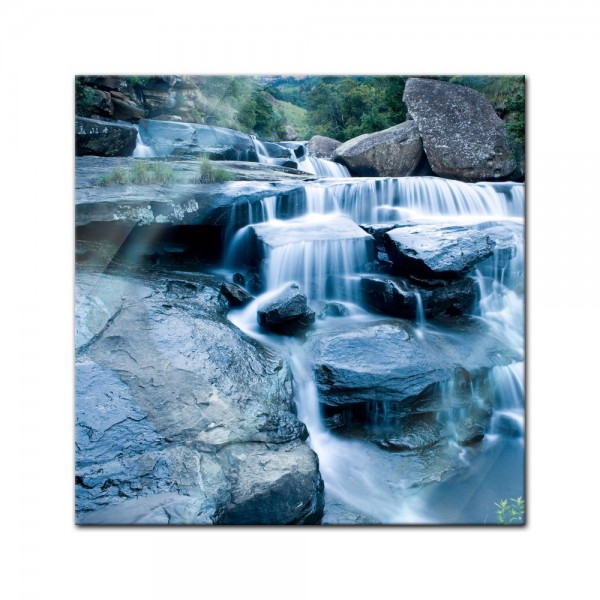 Glasbild - Drakensberg Wasserfall