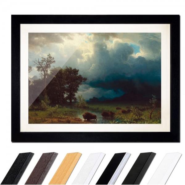 Albert Bierstadt - Buffalo Trail, The Impending Storm