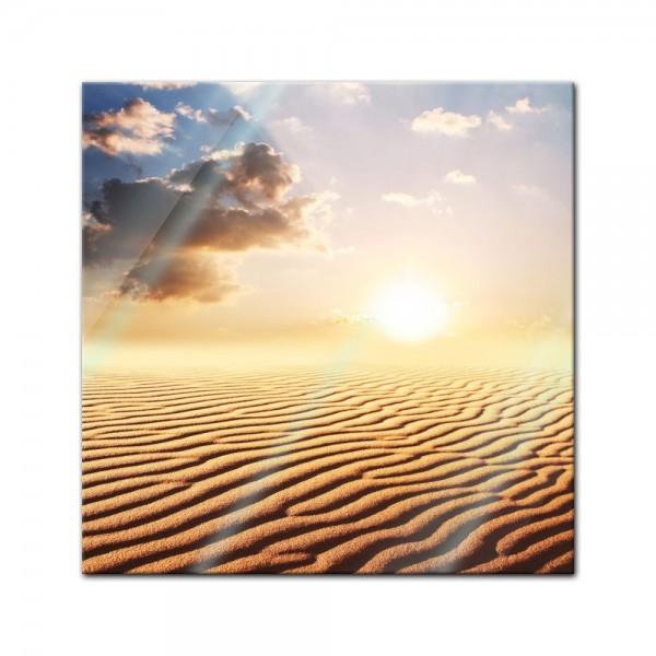 Glasbild - Sahara Wüste in Afrika