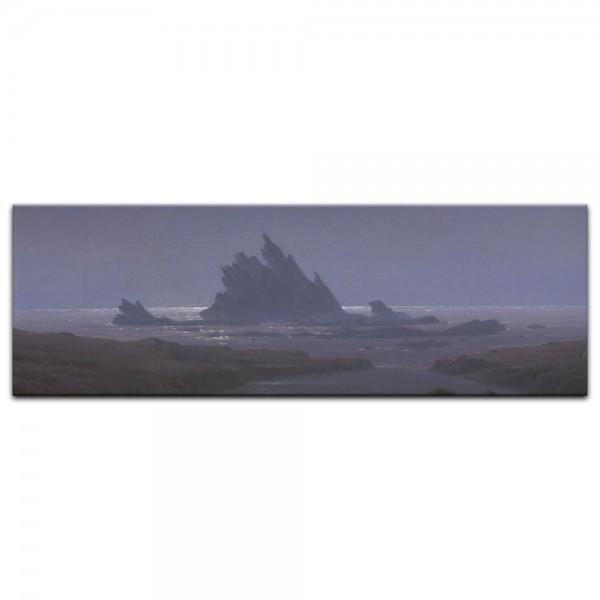 Leinwandbild - Caspar David Friedrich - Felsenriff am Meeresstrand