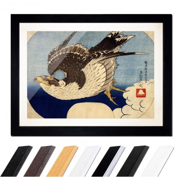 Katsushika Hokusai - Falke im Flug