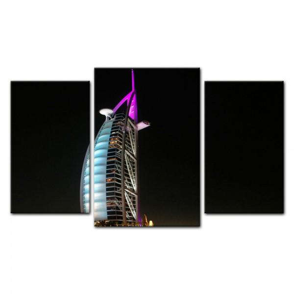 Leinwandbild - Burj al Arab bei Nacht