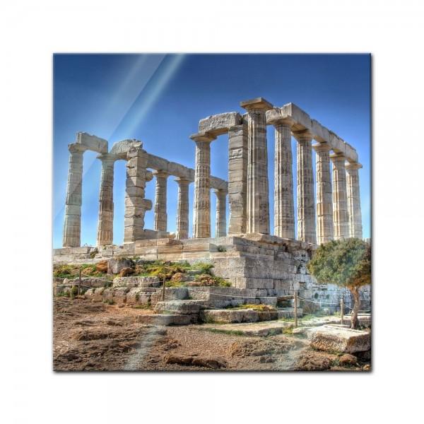 Glasbild - Kap Sounion - Griechenland