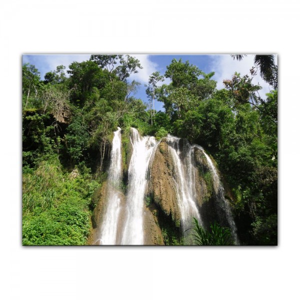 Leinwandbild - Wasserfall im Dschungel
