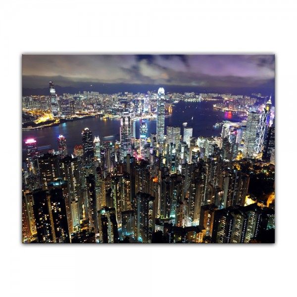Leinwandbild - Hong Kong City at Night