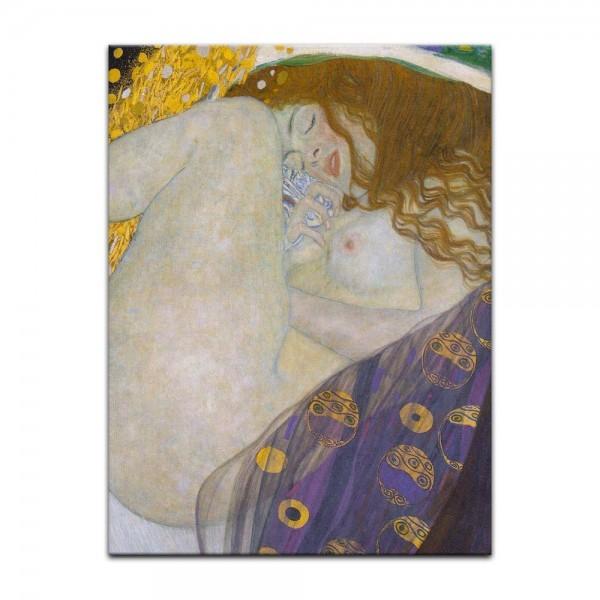 Leinwandbild - Gustav Klimt - Danaë