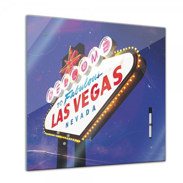 Memoboard - Männermotive - Las Vegas - 40x40 cm