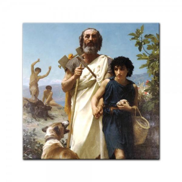 Leinwandbild - William-Adolphe Bouguereau - Homer und sein Führer